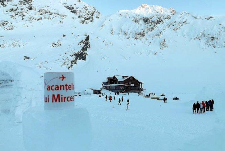 În paradisul zăpezilor din Munţii Făgăraş