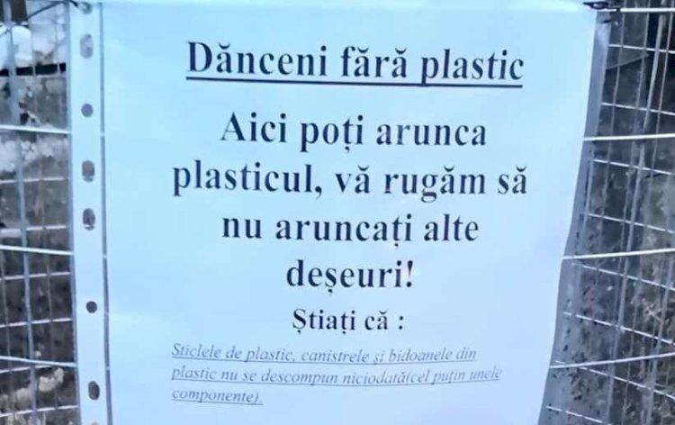 Dănceni scapă de plastic