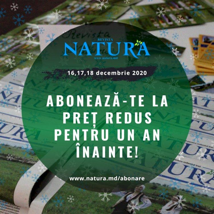 Trei zile de reduceri la revista NATURA!